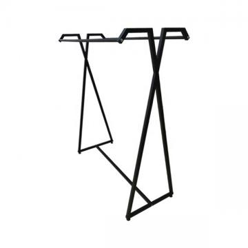 Heavy Duty Island Shape Garment Display Stand 600 * 600 * 1400MM For Hanging Clothes