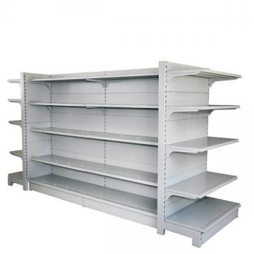 Heavy Duty Single Side Hypermarket Storage Display Gondola Shelving with Multi-Layers