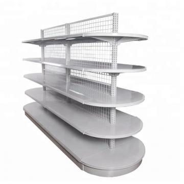 Supermarket Cosmetic Lotion Display Shelf with Light Box