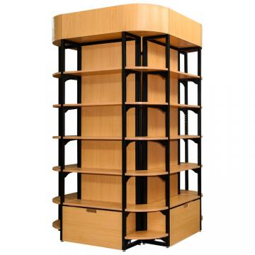 High Quality Luxury Retail Wooden Shoe Display Shelf for Store