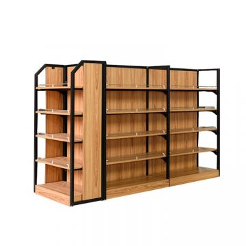 Wooden Display Shelving Units For Fruit Vegetable Display / Retail Display Shelving