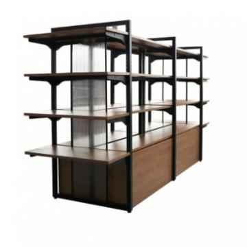 Double Sided Four Tier Supermarket Display Stands / Retail Display Shelving Units