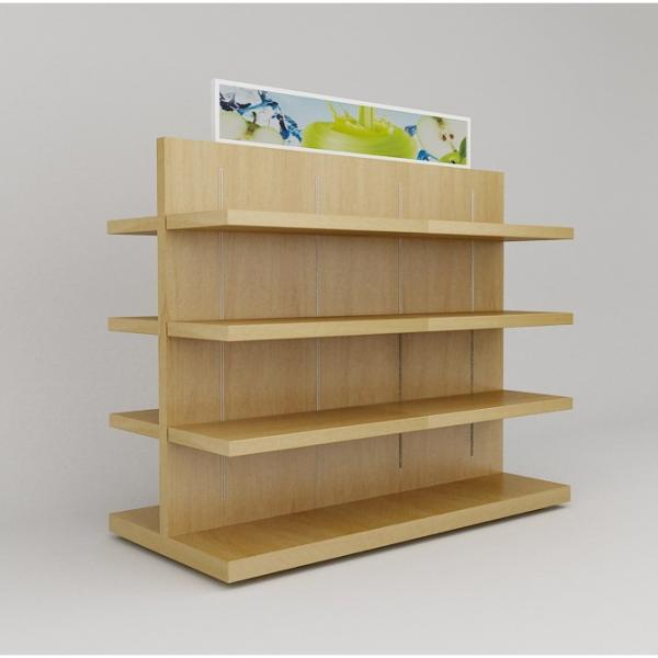 New Customized Supermarket Wooden Retail Display Shelving #2 image